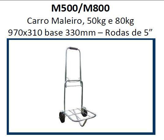 Carrinho de Carga Maleiro 80kg 970x310 base 330mm M800