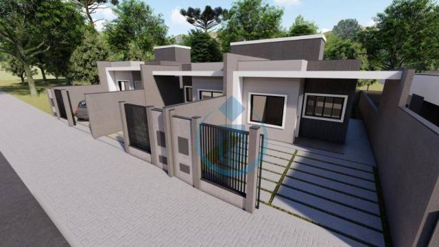Casa com 2 dormitório à venda, 64 m² por R$ 225.000 - Sao Caetano - Foz do Iguaçu/PR - Foto 2