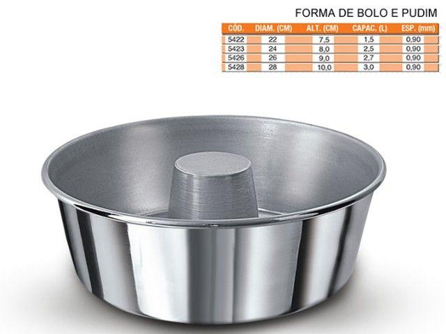 Formas em alumínio para bolo e pudim - Foto 6