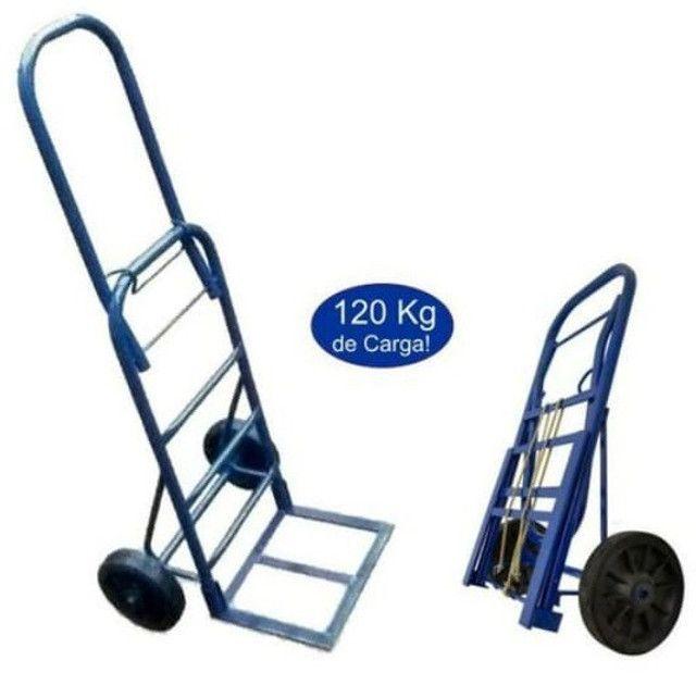 Carrinho de Carga Armazém Dobrável 120kg 1120x350 base 360mm D700
