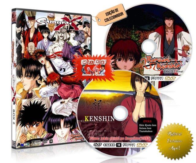 Box Dvd Samurai X Rurouni Kenshin Dublado + Filme + Ovas - Foto 5