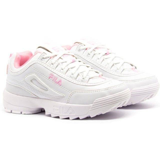 Lindo Tênis Fila Desruptor Feminino Branco e Rosa - Promoção !!! - Foto 2