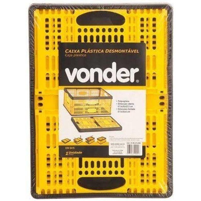 Caixa Plástica Desmontável 45x35x22 cm Vonder - Foto 3