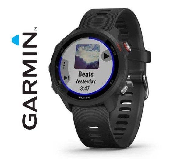 Relógio Com Gps Garmin Forerunner 245 Music Preto - Novo - Pronta Entrega! - Foto 2