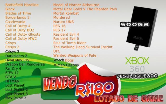 Hd Xbox360 Rgh Lotado De Jogos