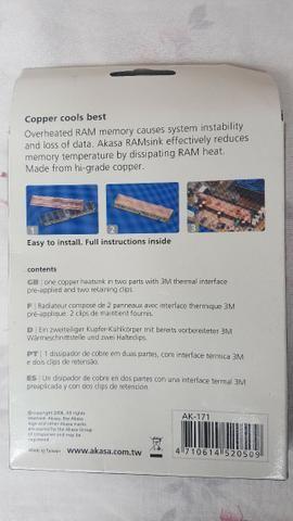 Dissipador de memória RAM em cobre - Foto 4