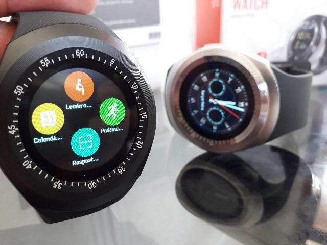 Relógio Celular Inteligente Smartwatch Bluetooth faz ligação - Foto 2