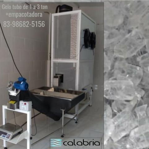 Maquina de gelo tubo e escama de 1 a 3 ton industrial - Foto 6