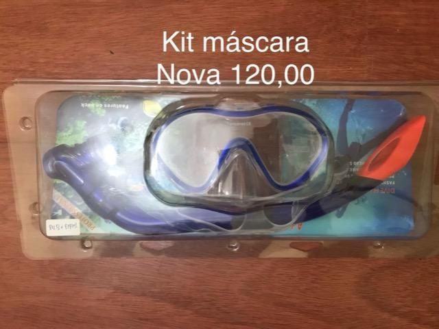 Kit máscara e snorkel