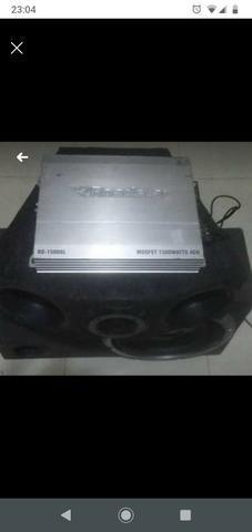 Som automotivo sub Pioneer módulo 1500 wt roadstar e trio cornetas e - Foto 4