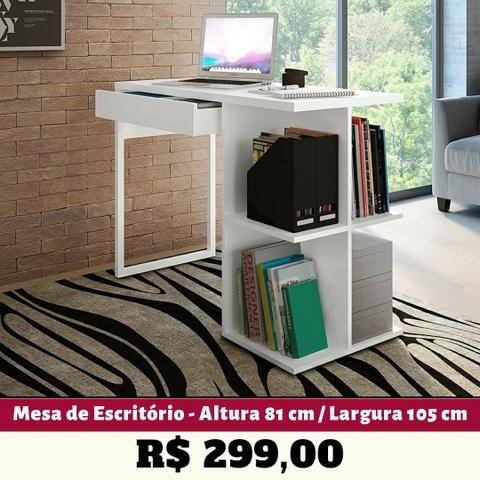 Mesa de Escritório/ Computador (2 Cores Disponíveis) Entrega Grátis