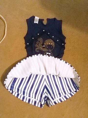 Conjunto shorts saia e blusinha infantil n2 - Foto 2