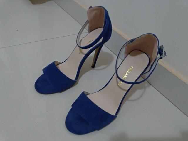Sandália Salto alto perfeita tamanho 37 - Foto 2