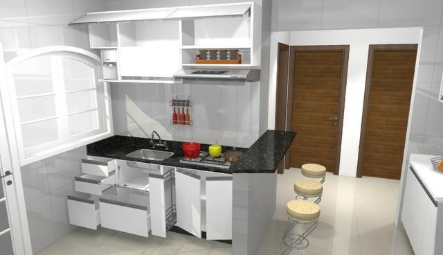 Cozinha armário Planejado 100% MDF. S/ a pedra - Foto 5
