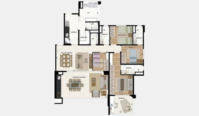 Gran Quadra San Felipe Palazzo Tatuapé ap. 4 dorms. 2 vag. 135m² - Foto 14
