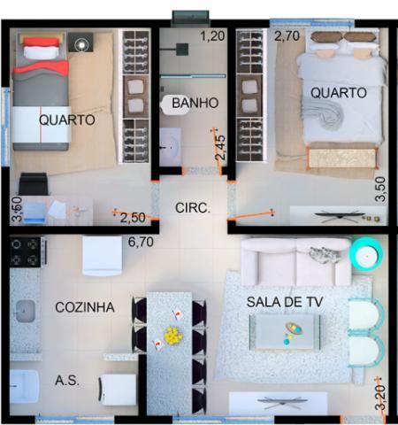 Apartamento à venda com 2 dormitórios em Candides, Divinopolis cod:14079 - Foto 2