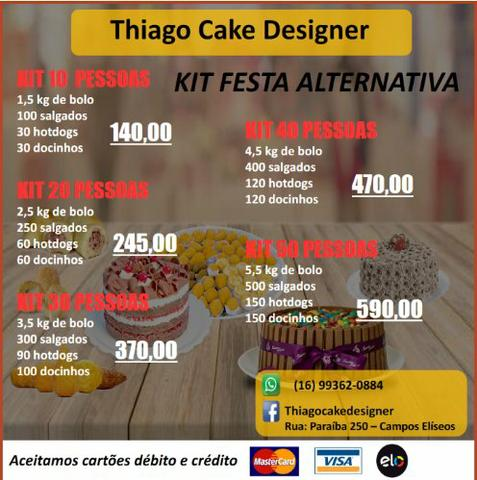 Kit festa bolos doces salgadinhos mini cachorro quente cupcake - Foto 3