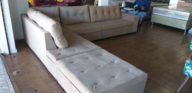 Sofa gigante de canto de 1.999 agora por apenas 1.599 a vista whatsapp;na descrição - Foto 2