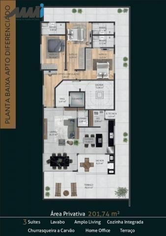 Premier residence apartamento frente mar com 03 suítes 123m em navegantes - Foto 5
