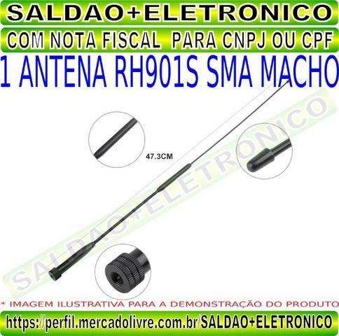 Antena rh901s sma macho adaptador conector sma macho dual band vhf uhf flexivel yaesu - Foto 3