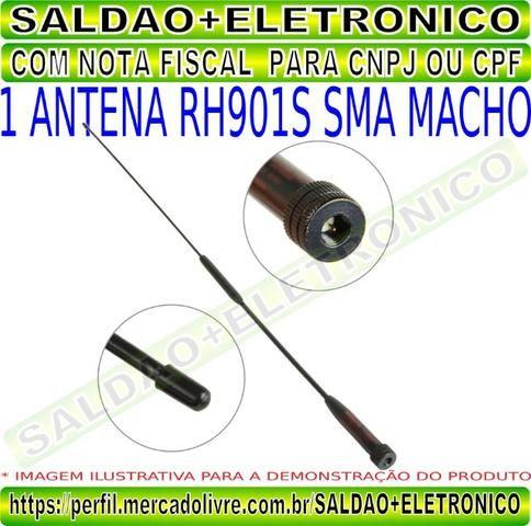 Antena rh901s sma macho adaptador conector sma macho dual band vhf uhf flexivel yaesu - Foto 4