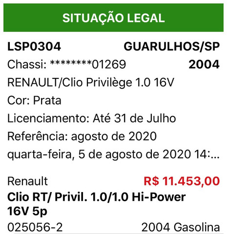 Clio Sedan Privilege 1.0 2004 - Foto 5
