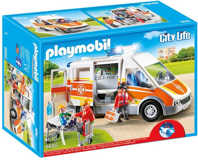 Playmobil 6685 City Life - Ambulance with lights and sound