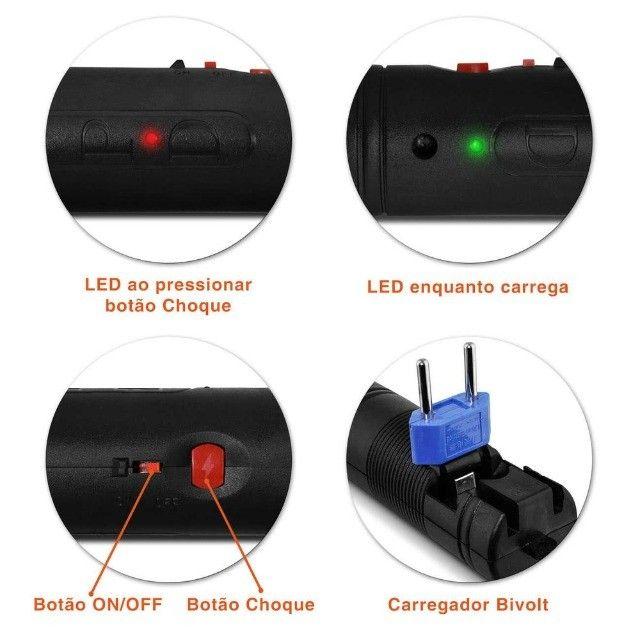 Raquete Elétrica Mata Pernilongo Insetos Recarregável Bivolt Várias Cores - Foto 3
