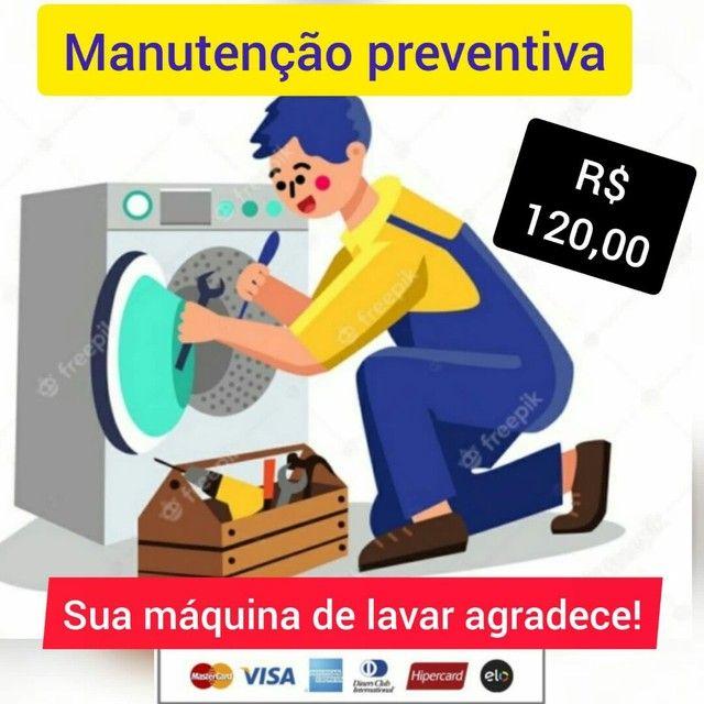 Manutenção preventiva de máquina de lavar
