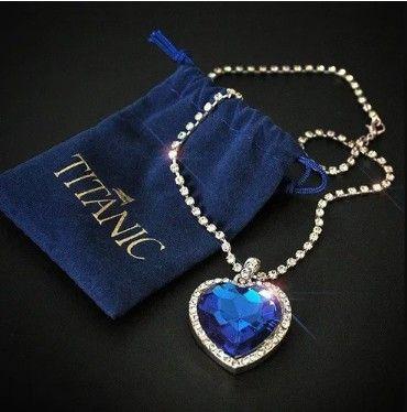 colar feminino coração oceano( Titanic) - Foto 4