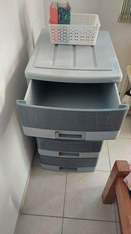 Vendo gaveteiro plástico marca Pnaples, com 4 gavetas. - Foto 2