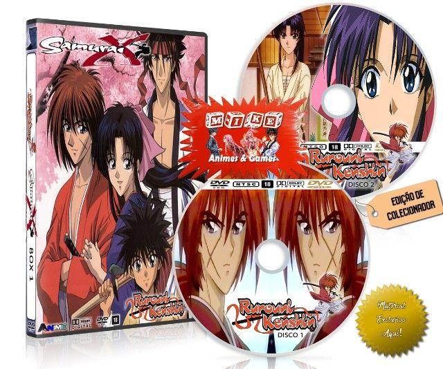 Box Dvd Samurai X Rurouni Kenshin Dublado + Filme + Ovas