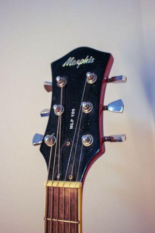 Guitarra Les Paul Memphis MLP 100 com capa - Foto 4