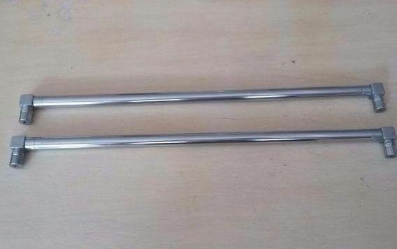 2 puxadores de aço inoxidável 36