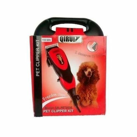 Máquina de Tosa Qirui para cães - Kit Completo