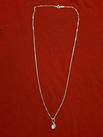 Colar Prata Feminino 45cm - Foto 3