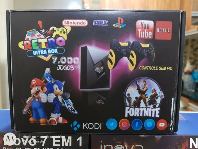 Video game retrô ultra box + 2 control s/ fio - Foto 2