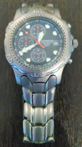 Relógio Technos Chronograph Titanium - Retro - Conservadíssimo!!! - Foto 5
