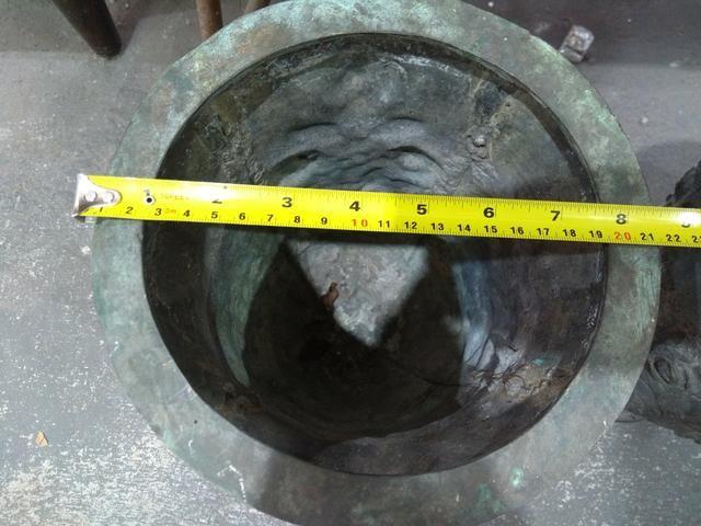 "Vaso Antigo Bronze"" Par"" - Foto 3"