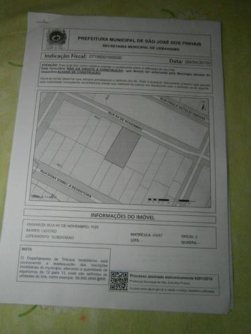Vende-se Terreno Comercia Residencial Rua XV centro de São José dos Pinhais - Foto 7