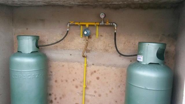 Tubulação de cobre para gás