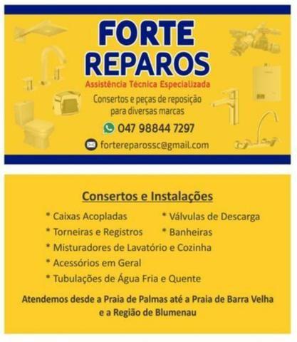 Consertos de Torneiras e Registros - FORTE Reparos- Meia Praia/Itapema SC