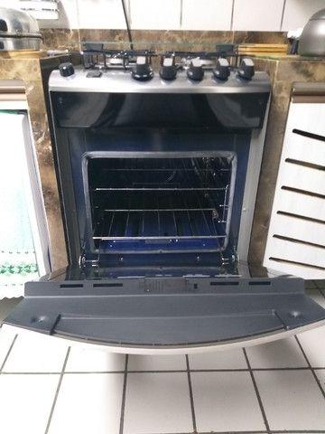 Fogão Brastemp Inox 4 bocas com grill - Foto 2