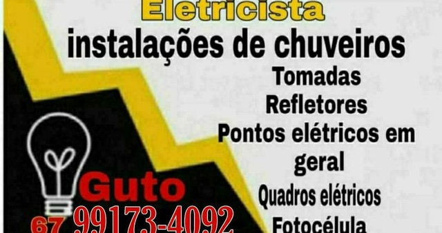 Eletricista (orçamento imediato)