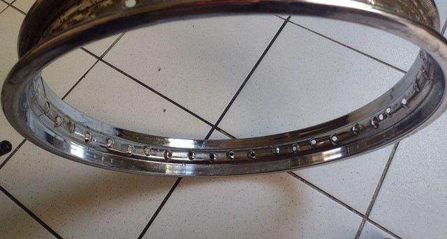 Aro traseiro (folha de roda) - Yamaha - Honda  - Foto 2