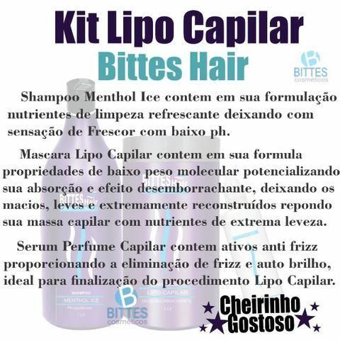 3 Kit Lipo Capilar Bittes Hair Menthol Ice Desemborrachante Cabelos Macios Brilhosos - Foto 3