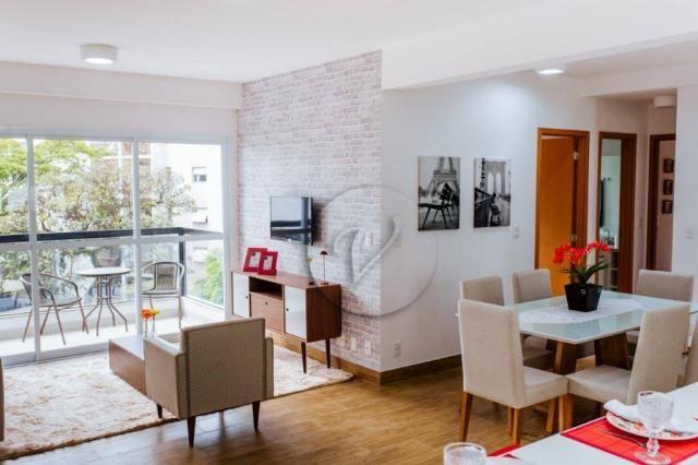 Apartamento com 3 dormitórios para alugar, 90 m² por r$ 2.800/mês - jardim bela vista - sa - Foto 2