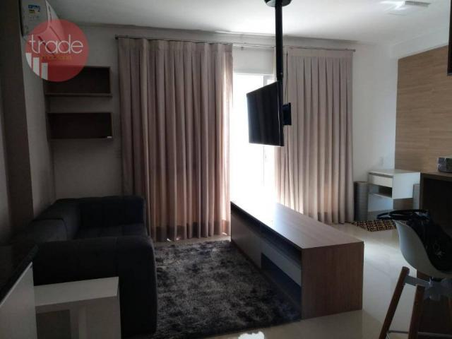 Flat com 1 dormitório para alugar, 44 m² por r$ 1.800,00/mês - bosque das juritis - ribeir