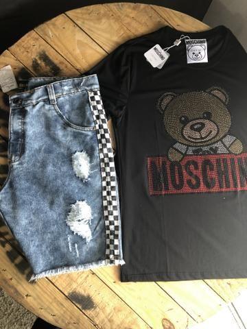 Calças bermudas camisetas shorts - Foto 2
