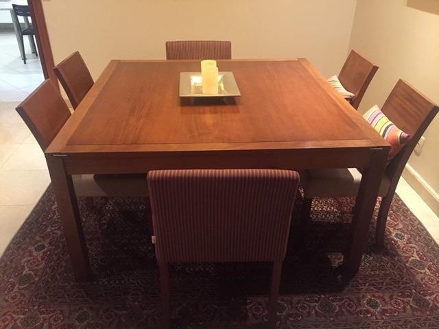 Mesa Jantar Tok Stok Armazém com 6 cadeiras